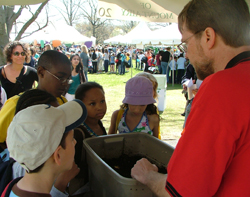 Bradley Flamm and EarthFest visitors