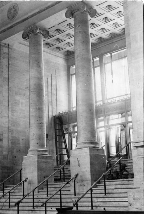 staircase leading into North Broad Station