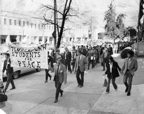 Temple law students marching