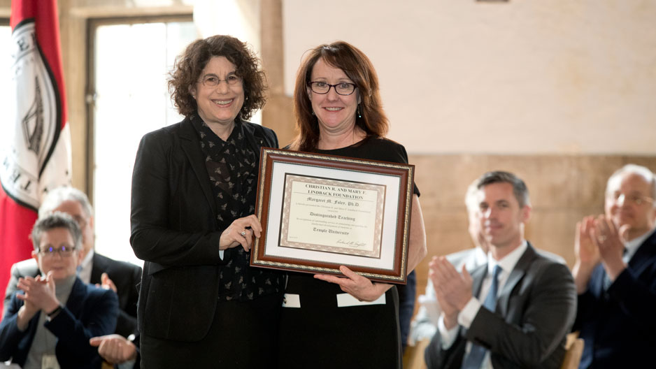 Dean Laura Siminoff and Associate Professor Margaret Foley