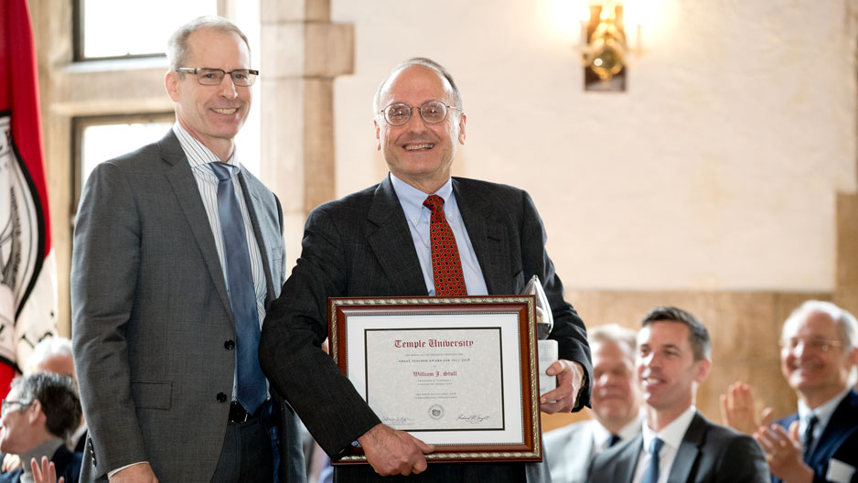 Dean Richard Deeg and Professor William Stull