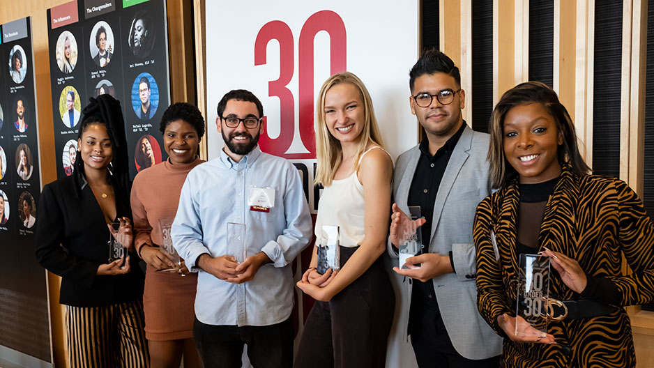 Group of 30 Under 30 honorees
