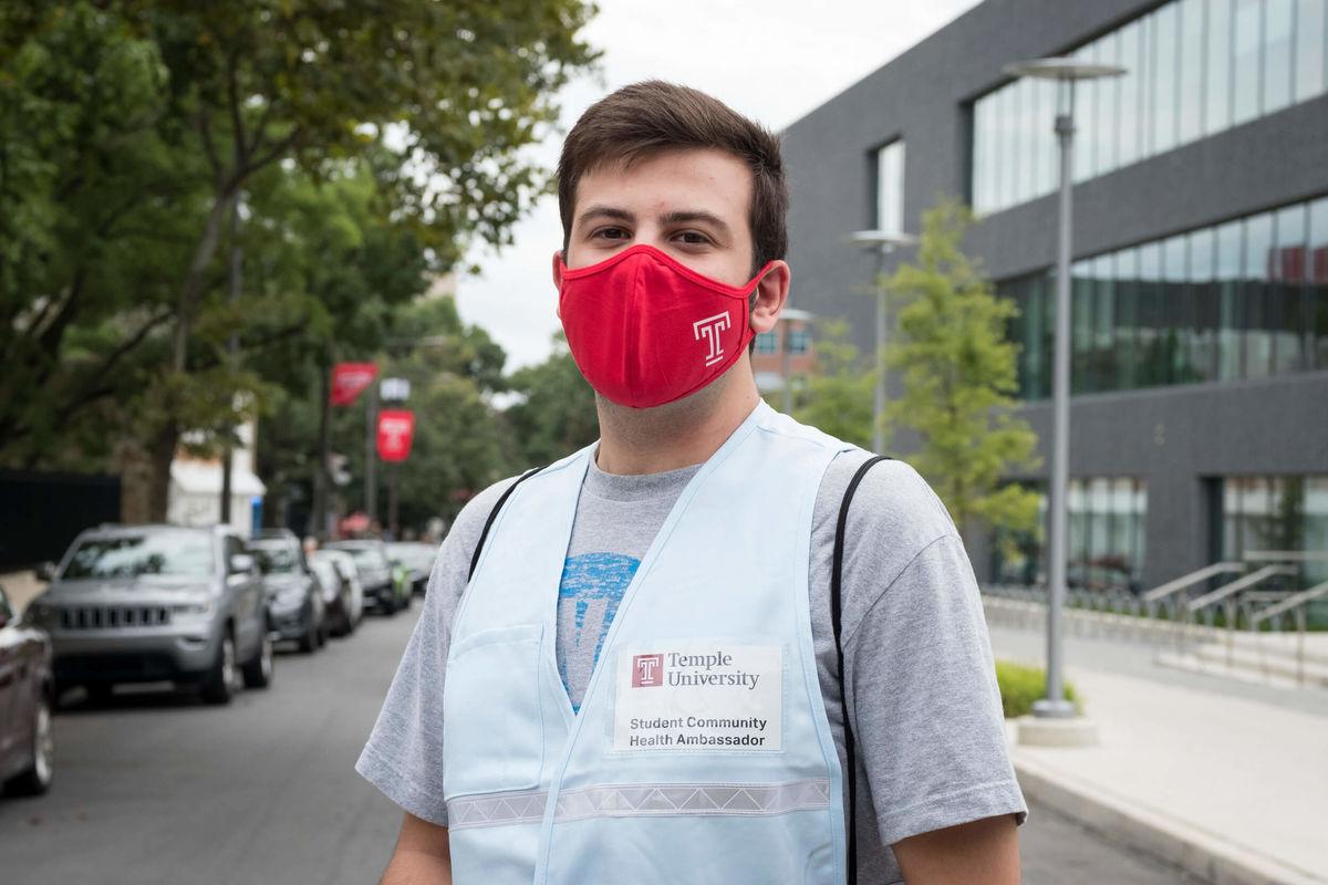 Saleh Salimshahshahani, a student community health ambassador on Temple's Main Campus.