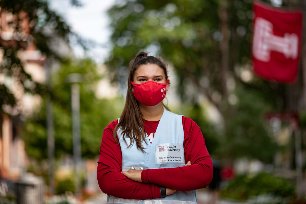 Katelyn Rogers, a student community health ambassador on Temple's Main Campus.