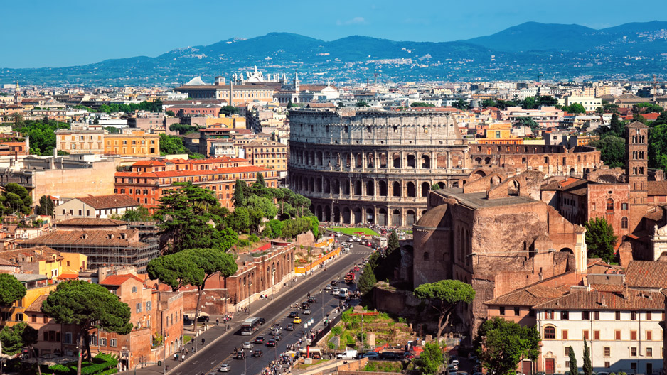a view overlooking Rome
