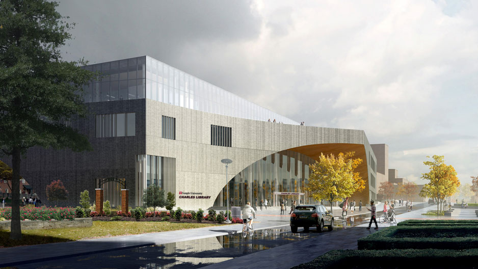 An architect's rendition of the future Charles Library.