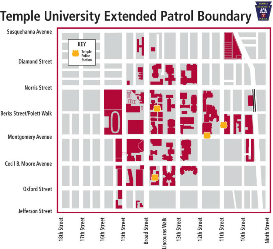 Temple University Announces Extension Of Police Patrol Borders