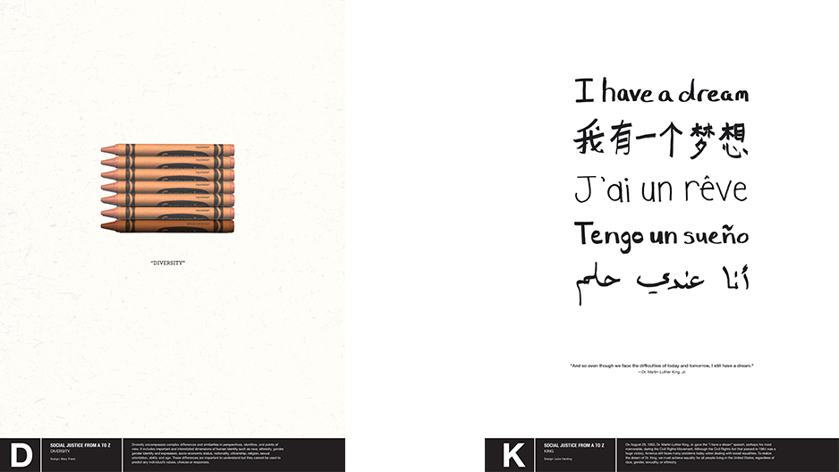 One Of Hardings Letters Was K For Which He Chose King The Poster Includes Text Reading I Have A Dream A Phrase Then Repeated In Several Languages