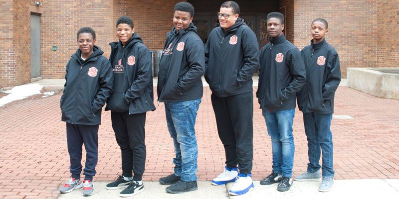 Students in Urban Youth Leadership Academy's first cohort