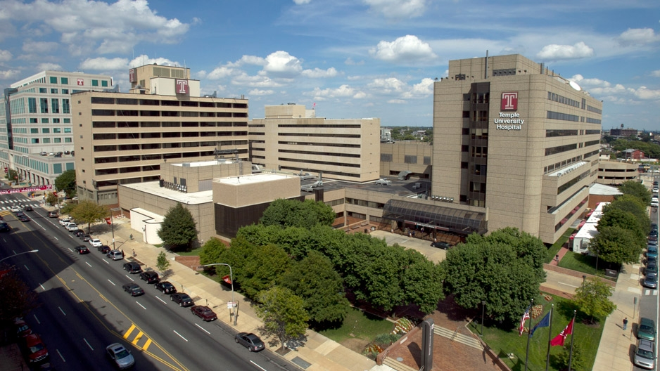 Temple University Hospital aerial view