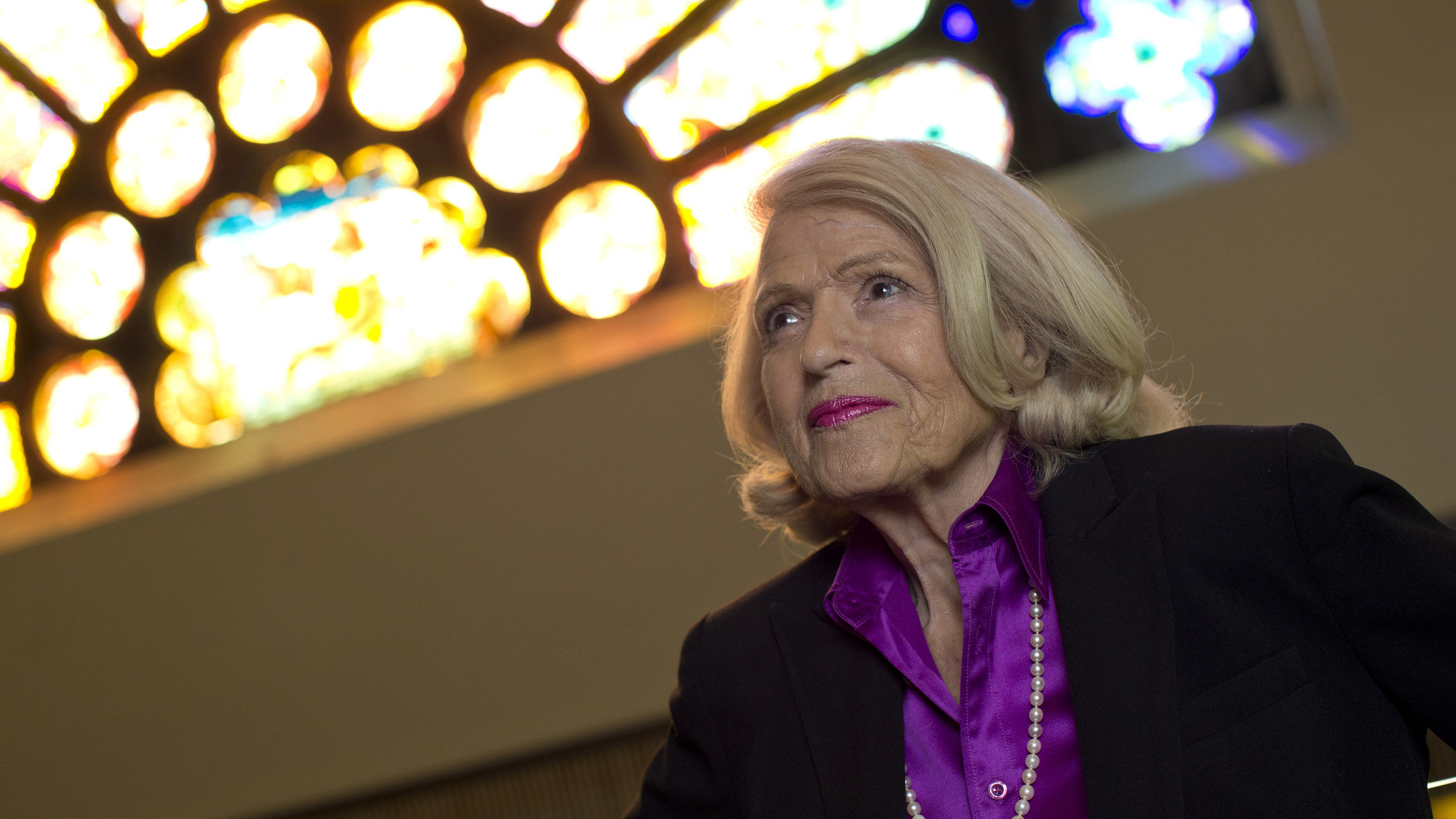 Temple alumnae Edith Windsor at the Temple Performing Arts Center in 2014.
