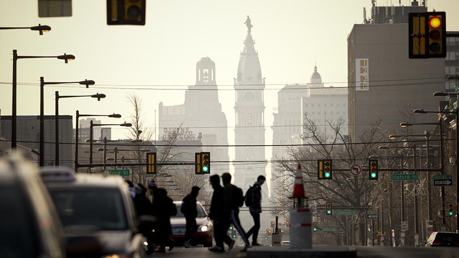 Philadelphia City Hall from North Broad Street.