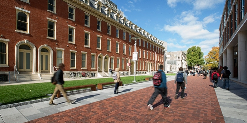 Students walking along Liacouras Walk on Main Campus