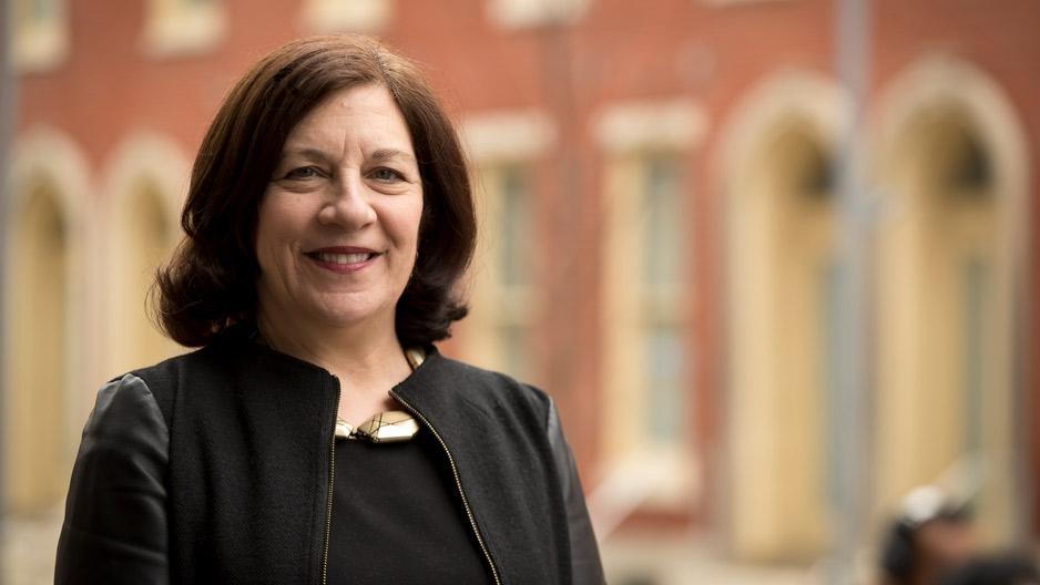 Assistant Professor Ellen Weber on Temple University's campus.