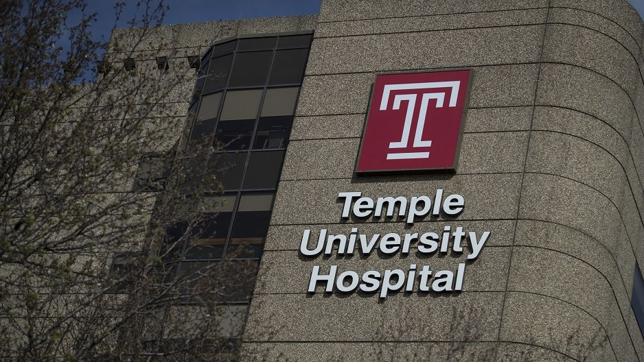 The facade of Temple University Hospital.
