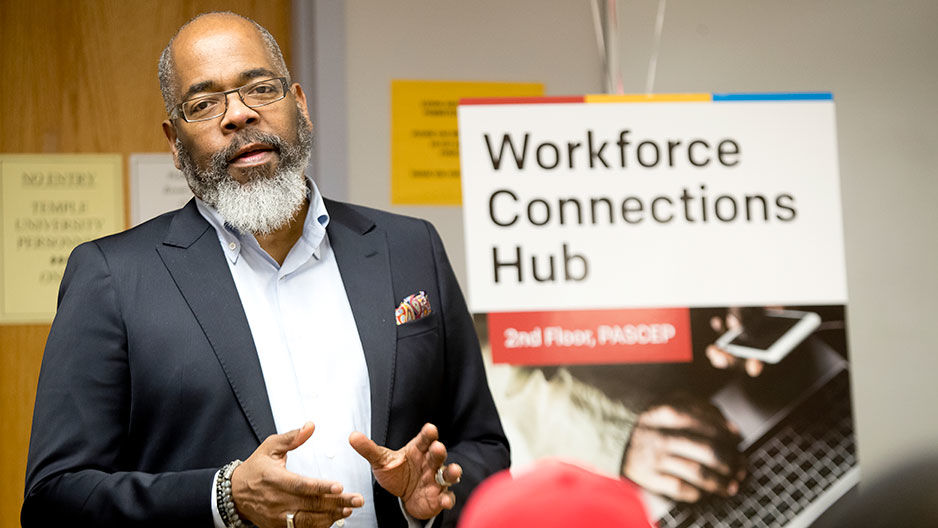 Michael Clemmons at Temple Workforce Connections Hub