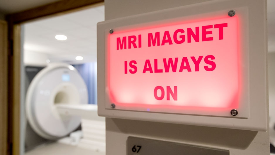 the Temple University Brain Research and Imaging Center's 3-Tesla Siemens MAGNETOM Prisma MRI scanner