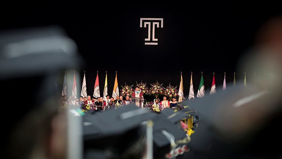 Temple commencement ceremony
