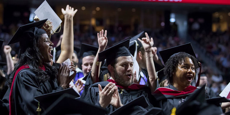 Temple graduates at 2018 Commencement ceremony