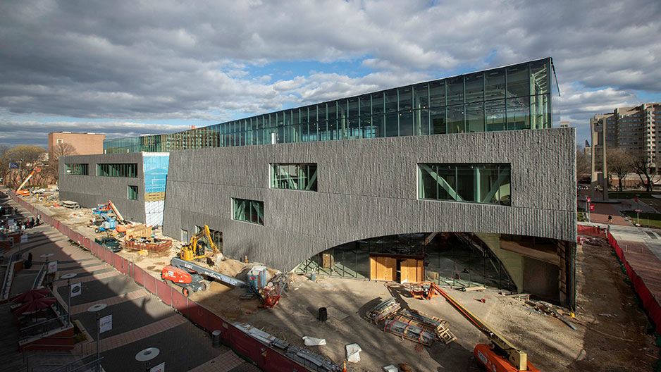 Charles Library under construction