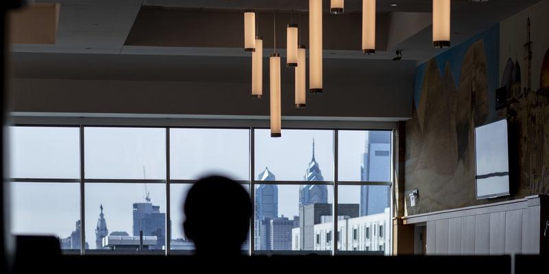 a view of Philadelphia's skyline