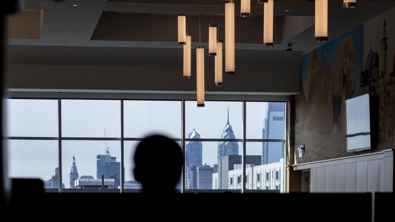 a view of the Philadelphia skyline
