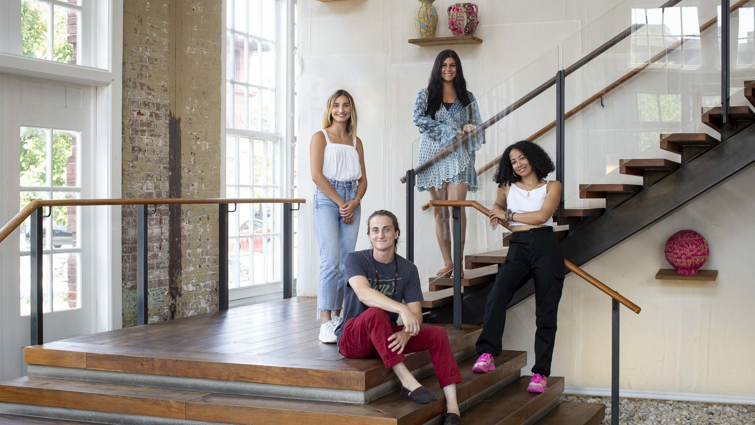 Temple University students complete summer internships at URBN, located at the Philadelphia Navy Yard, working on marketing, buying, public relations and design.