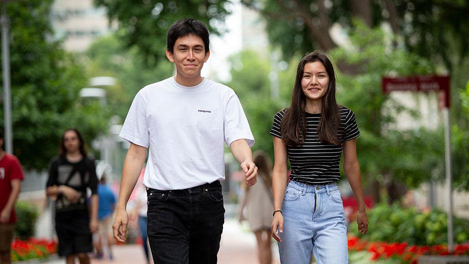 Andres Mondragon and Ayna Mammedova