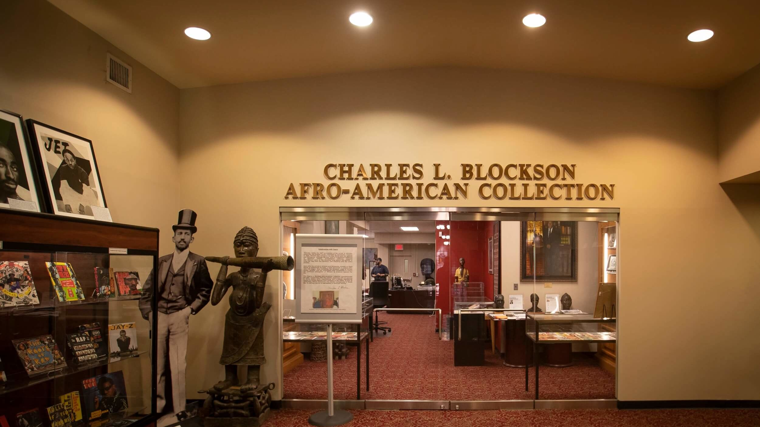 The entrance to the Charles L. Blockson Afro-American Collection