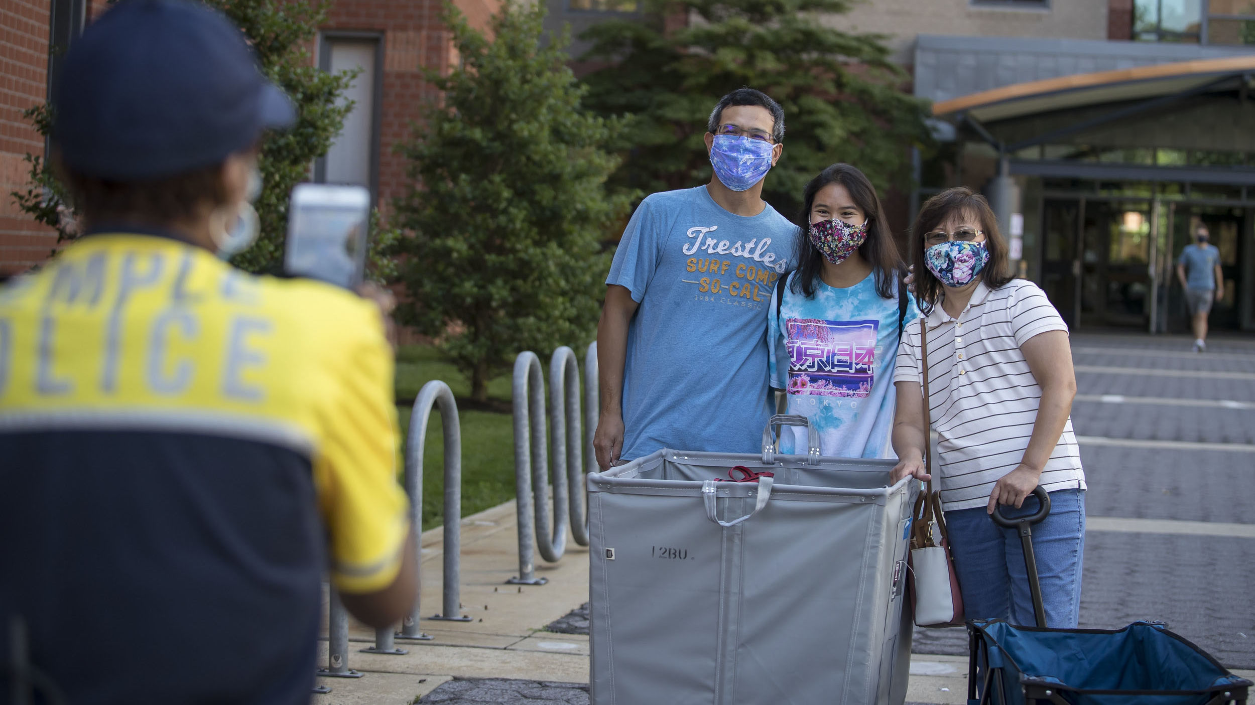 a student moves into a residence hall on Temple's campus.