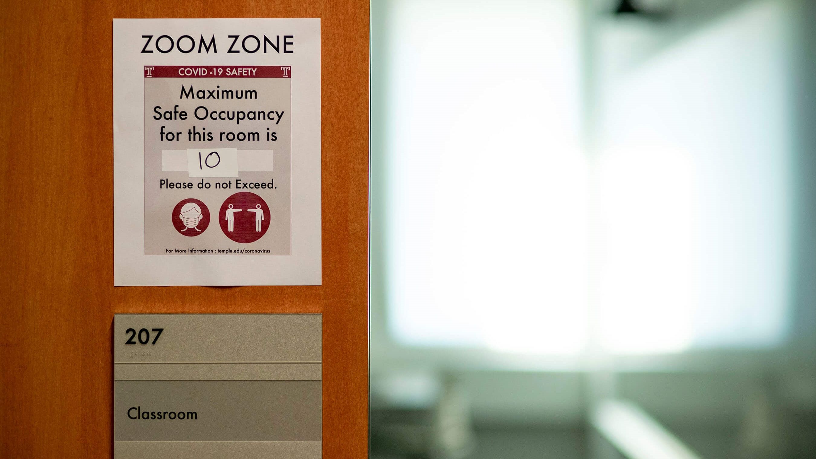 A photo of a Zoom Zone at Temple University.