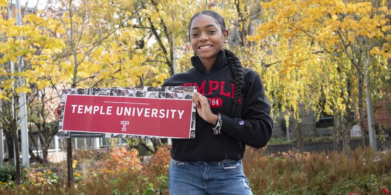 Temple student Jasmine Dantzler