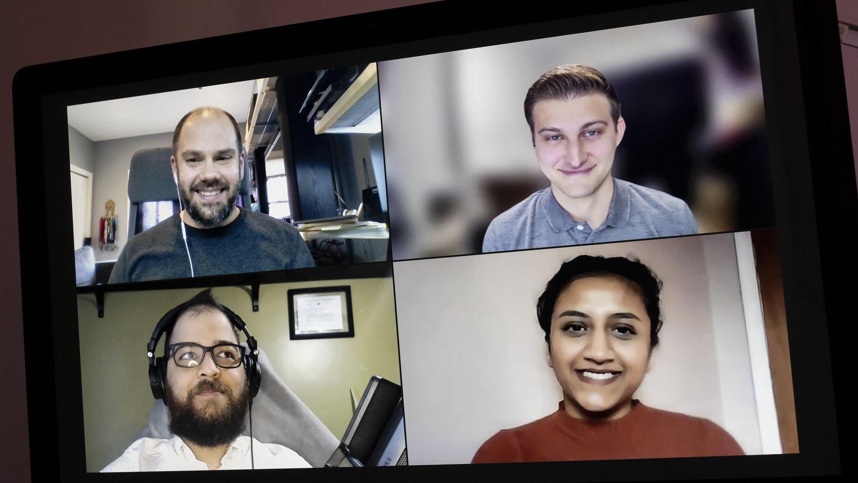 Rob Zahorchak, Tyler Doudrick, Megha Patel and Alex Perez