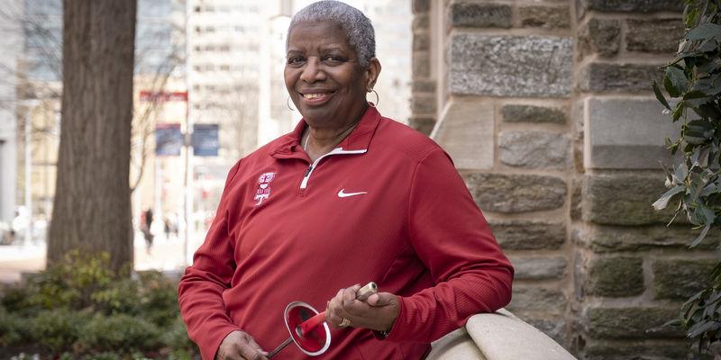 Temple women's fencing head coach Nikki Franke