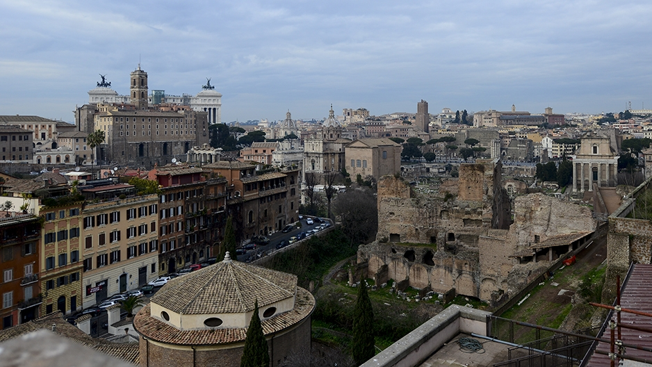 A view of part of Rome, Italy