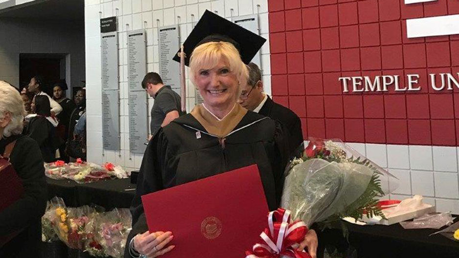 Connie Presser on graduation day