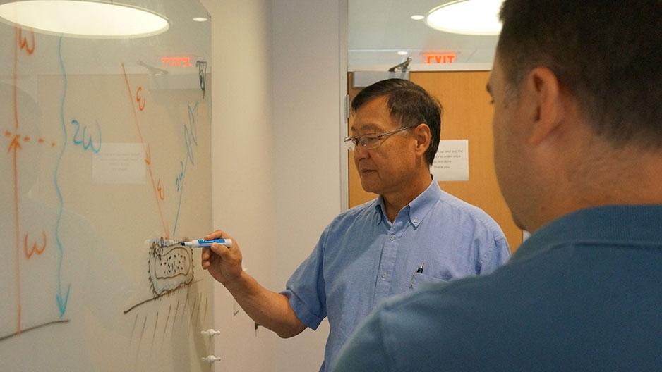 Hai-Lung Dai at a whiteboard