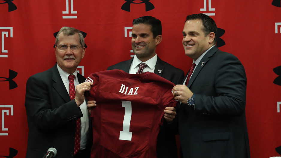 Image result for manny diaz temple head coach