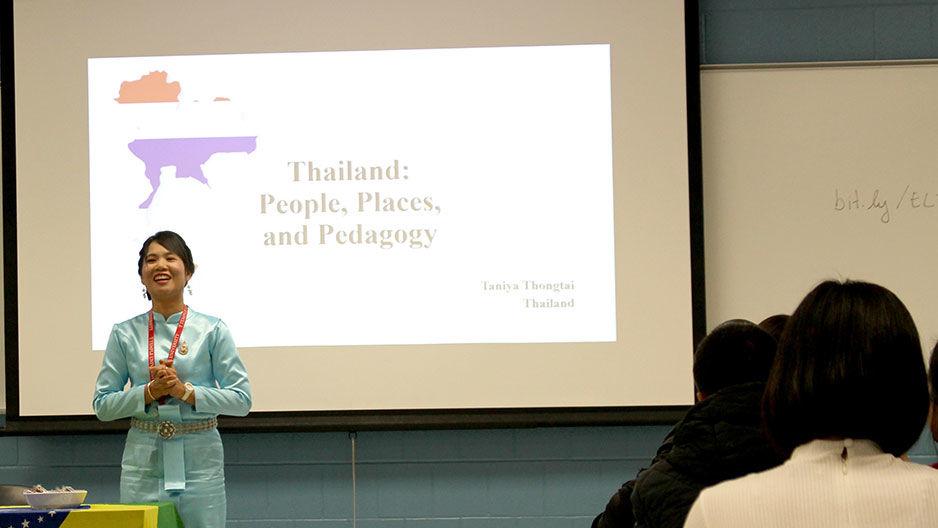 teacher participant presenting