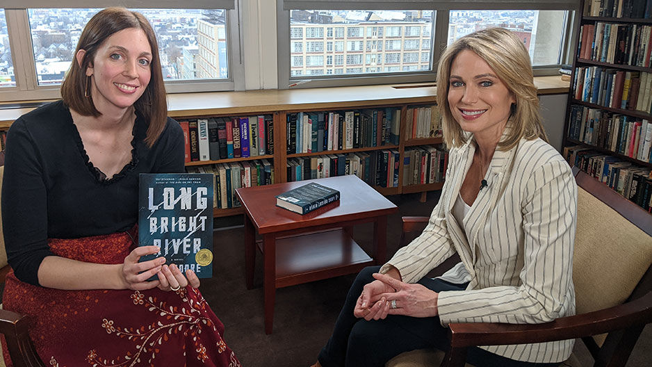 Liz Moore with ABC's Amy Robach
