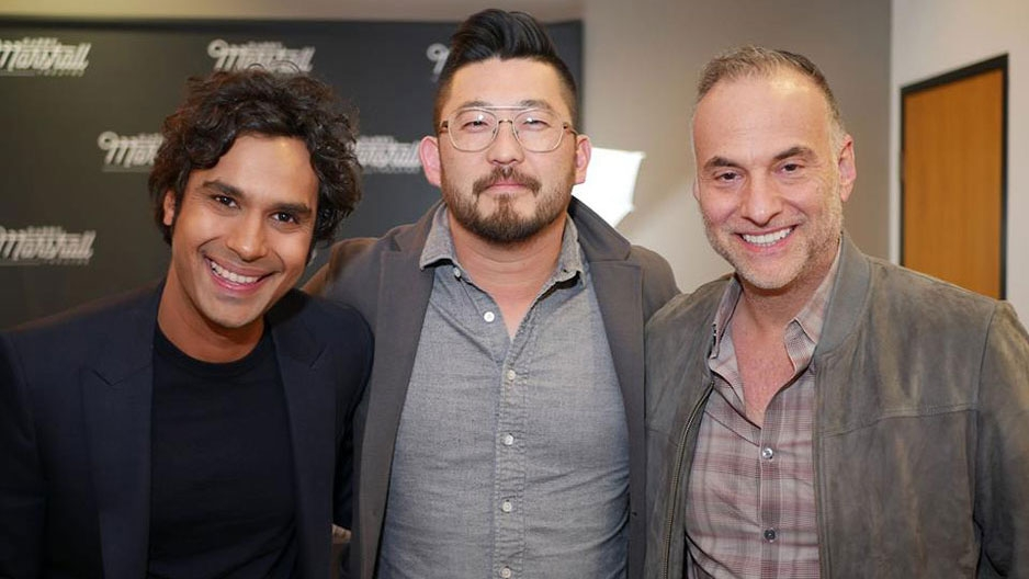 Kunal Nayyar with manager Jason Kim and agent Jonathan Howard