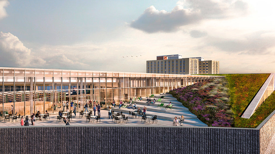 New Library Receives State Support For Massive Green Roof