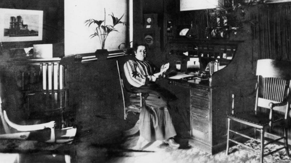 Laura Carnell in her office