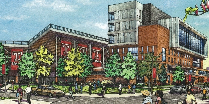 sketch showing multipurpose facility at 16th and Norris