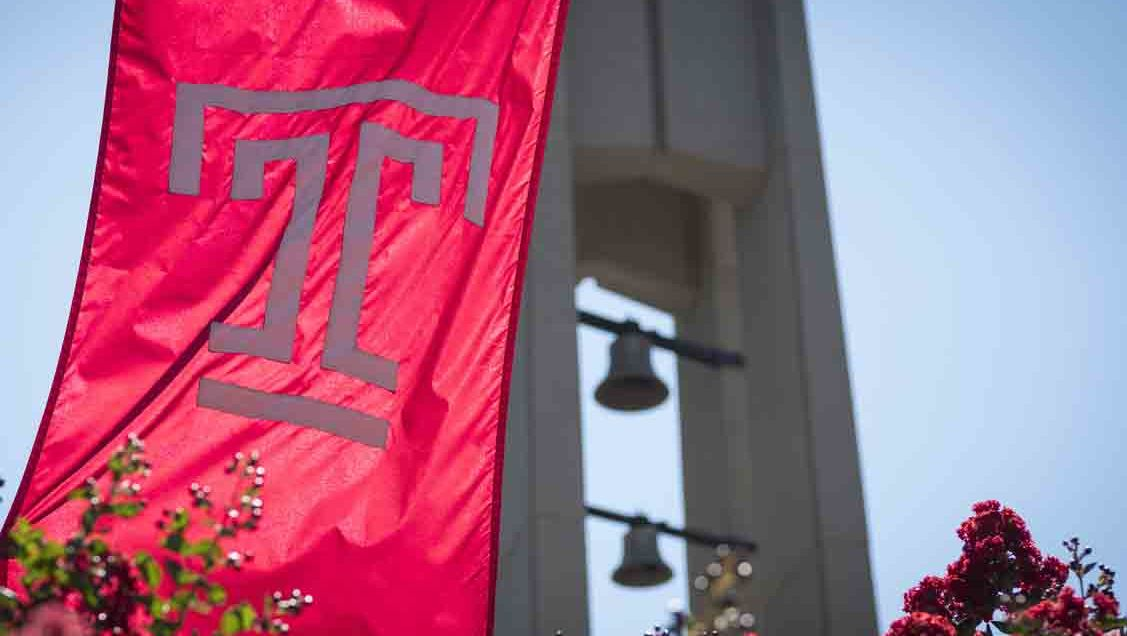 Tempe flag in front of Bell Tower