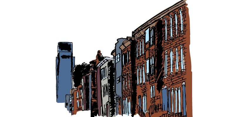 an illustration of a city street