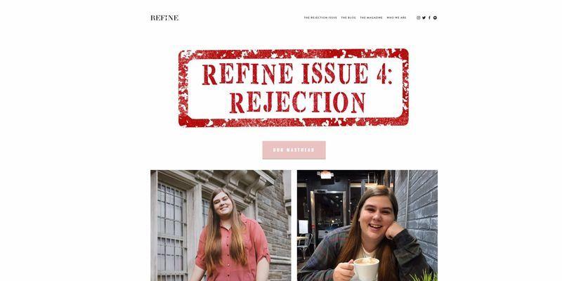 A screenshot of issue 4 of REFINE magazine.