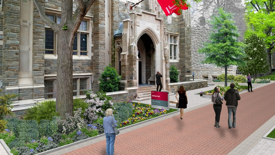 Portion Of Polett Walk To Temporarily Close Due To Landscape - Temple landscape architecture