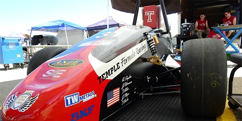 Temple Formula Racing's car.