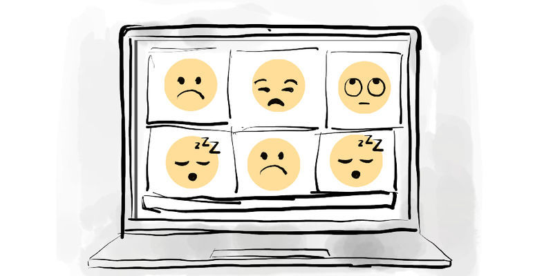 Emojis on a Zoom call